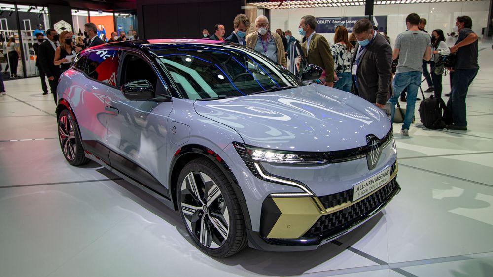Renault Megane E-Tech ble vist frem på bilmessen IAA i München.