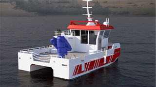 Prosjektet «Utslippsfri arbeidsbåt»(U-båt) bygger på den dieselelektriske båten Nabcat 1375 Electric som Moen Marin har designet når de nå har laget en skisse av den første hydrogenbåten.