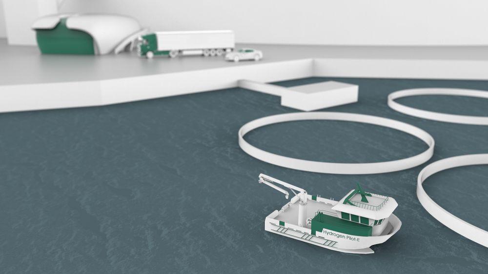 En klynge med Renenergy, H2Marine, NTE og Sintef skal utvikle et landanlegg for lokal produksjon av hydrogen til arbeidsbåter i oppdrettsindustrien. Man regner med at det er 8-900 slike båter bare i Norge.