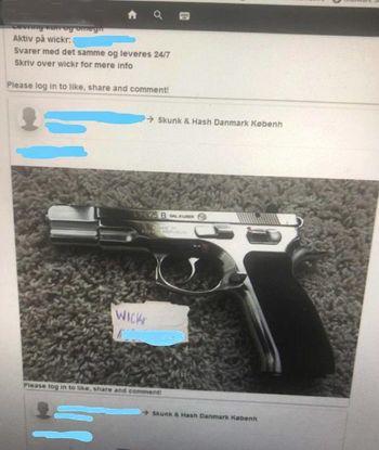 Her er våpen som er til salgs, og igjen er det tydelig hvordan de kriminelle unngår å bruke offisielle kanaler og tyr til Tor, det mørke nettverket og Wickr-meldingstjenesten.