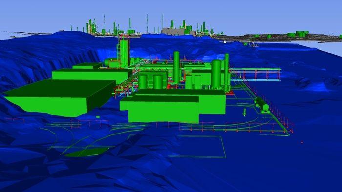 Grønt hydrogen skal framstilles i fabrikken på Mongstad ved hjelp av elektrolyse av vann.