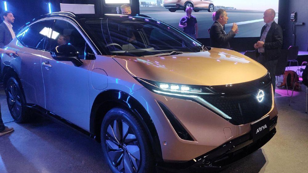 Nissan Norge avslørte torsdag prisene på Ariya. Her fra Vulkan i Oslo, hvor bilen var utstilt.