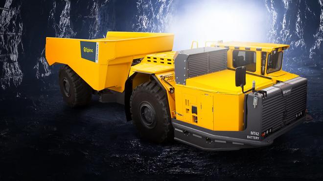Gruvetrucken MT42 Battery fra Epiroc skal kunne laste 42 tonn.