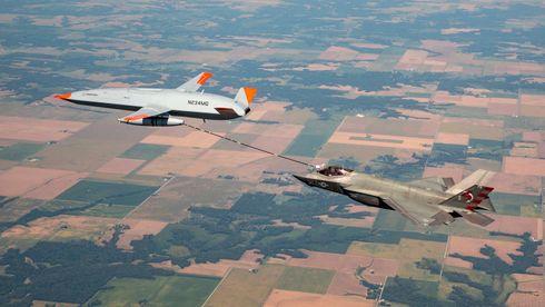 Ingen grunn til rekkeviddeangst: F-35 fyller opp i lufta – fra drone