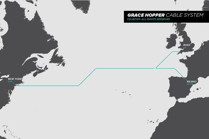 Google og underleverandør Subcom har nå fått trukket den nye fiberkabelen hele veien fra USA til England. De nådde også land i Spania tidligere i september.