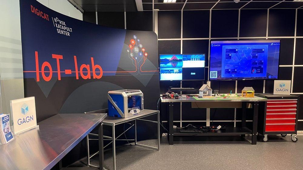 Slik ser laben ut nå. Om tre til fire uker skal den være klar.