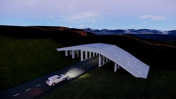 For å beskytte en islandsk vei mot vulkanutbrudd, foreslås det å bygge en lavabro.