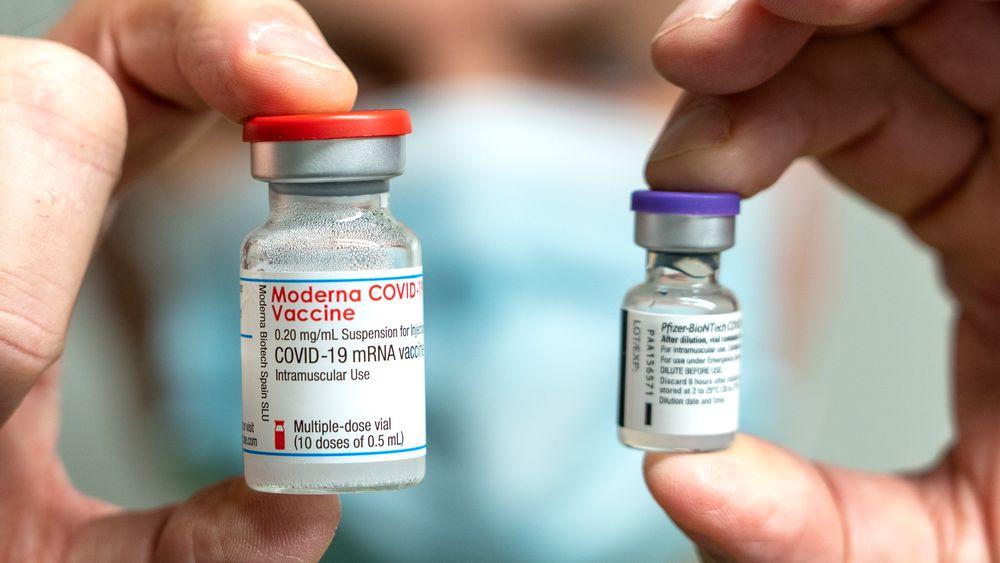 Moderna-vaksinen viser seg mer effektiv enn Pfizer-vaksinen i en ny studie.