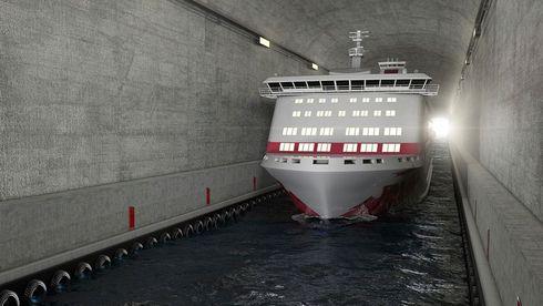 Ekspert mener stor skipstunnel er dårlig idé – vil be om drosje for å kjøre rundt tunnelen
