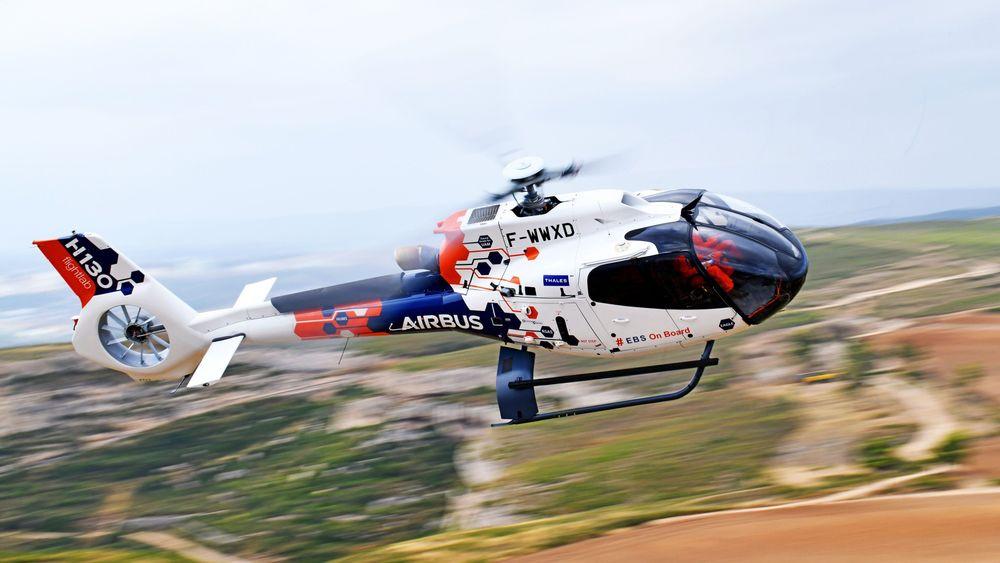 Airbus Helicopters tester «engine back-up system» (EBS) som er installert på et H130-helikopter.