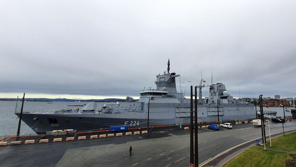 Den tyske fregatten «Sachsen Anhalt» ankom Oslo torsdag morgen.