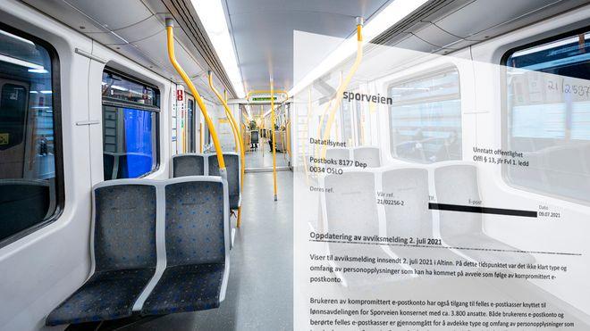 Sporveien mangler spor etter datainnbruddet i sommer. Bildet viser en koronatom T-banevogn.