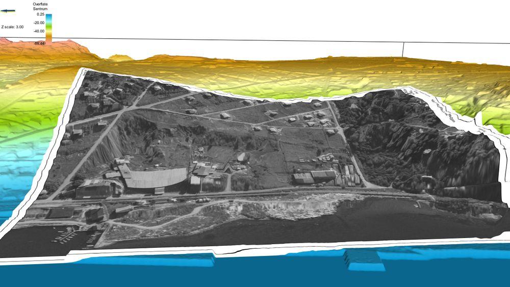 Geolog Erling Siggerud mener at et større skred har gått bak Rockwool-fabrikken til venstre i bildet – fra de bratte søkkene som omkranser fabrikken. Om det stemmer, kan kvikkleireområdet i Moss ende i høyeste risikoklasse.