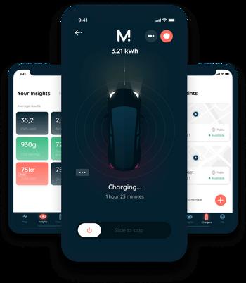Montas app brukes av både ladepunkteier og kunder.