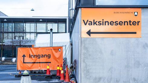 Vaksinasjonssenter på Rud i Bærum. Illustrajonsfoto.