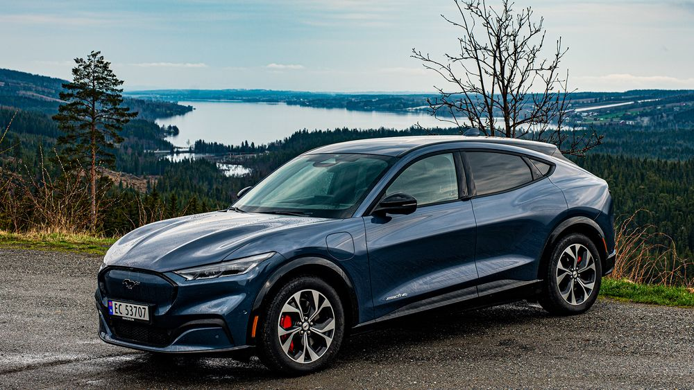 Ford Mustang Mach-e var blant fire elbiler som ble testet av svenske Teknikens Värld.