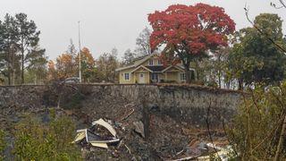 Skredområdet på Ask i Gjerdrum der det gikk et kvikkleireskred på til sammen 1.135 millioner kubikkmeter natt til 30.12.21