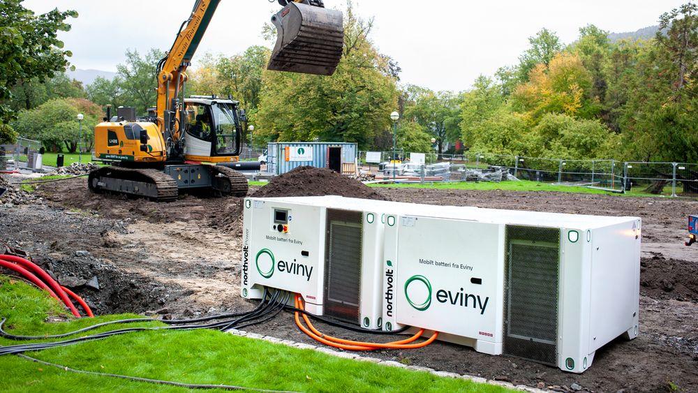 I Nygårsparken i Bergen har BKK/Eviny allerede begynt å bruke batteriet fra Northvolt.