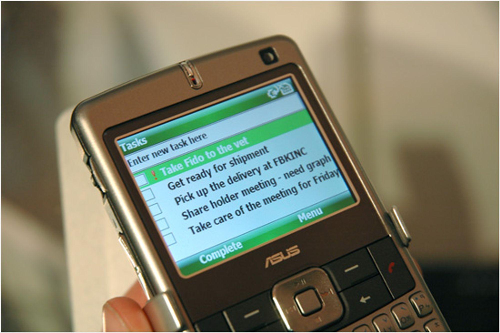 Windows Mobile 6, eller Crossbow, har en rekke forbedringer. (Alle foto: Einar Eriksen)