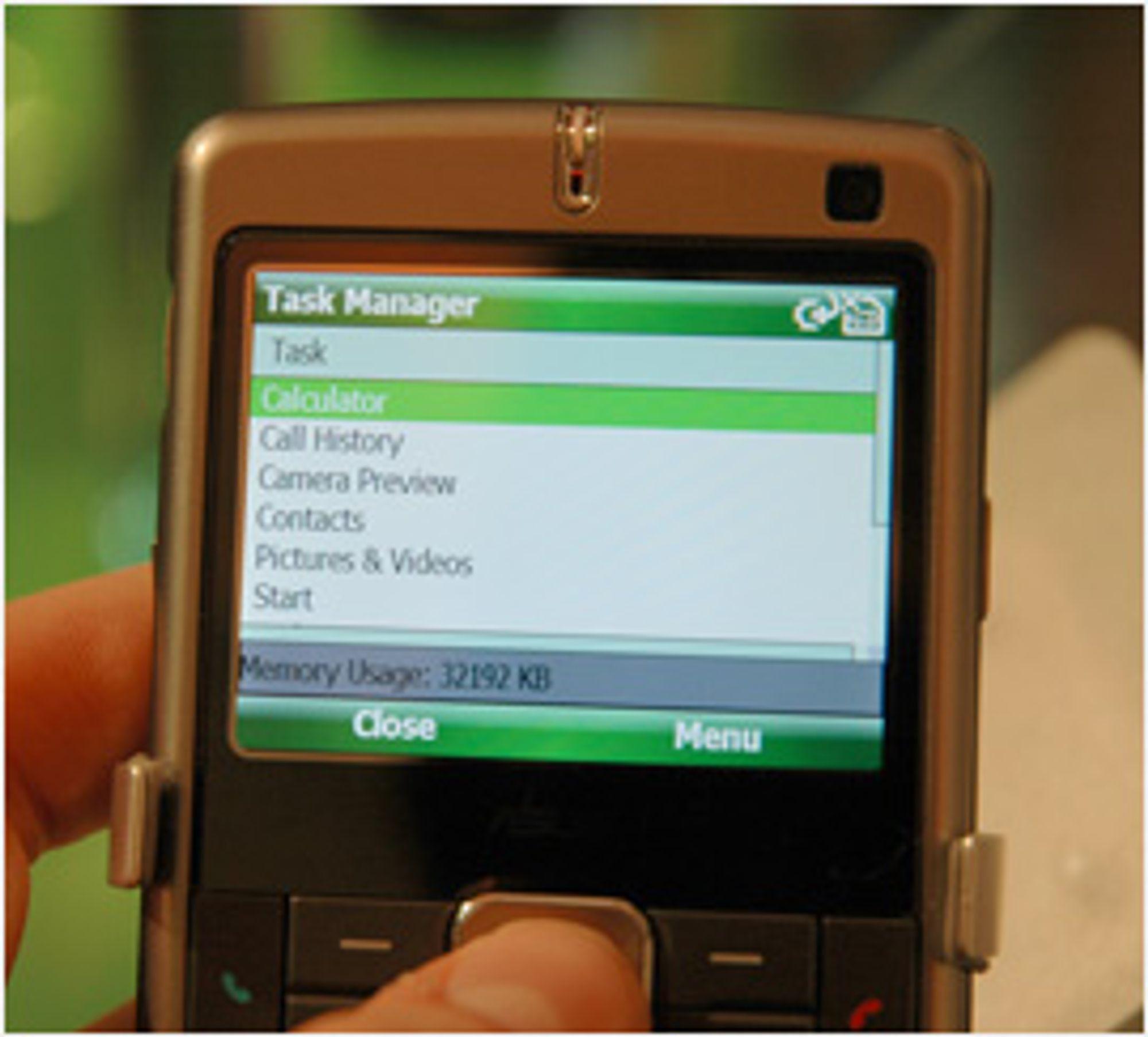 Windows Mobile 6 har litt slitsom oppgavebehandling