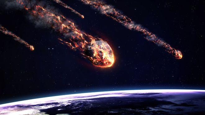 Det regner med stein fra verdensrommet. Mange tonn i timen. Heldigvis brenner de aller fleste opp i atmosfæren. Montasje.
