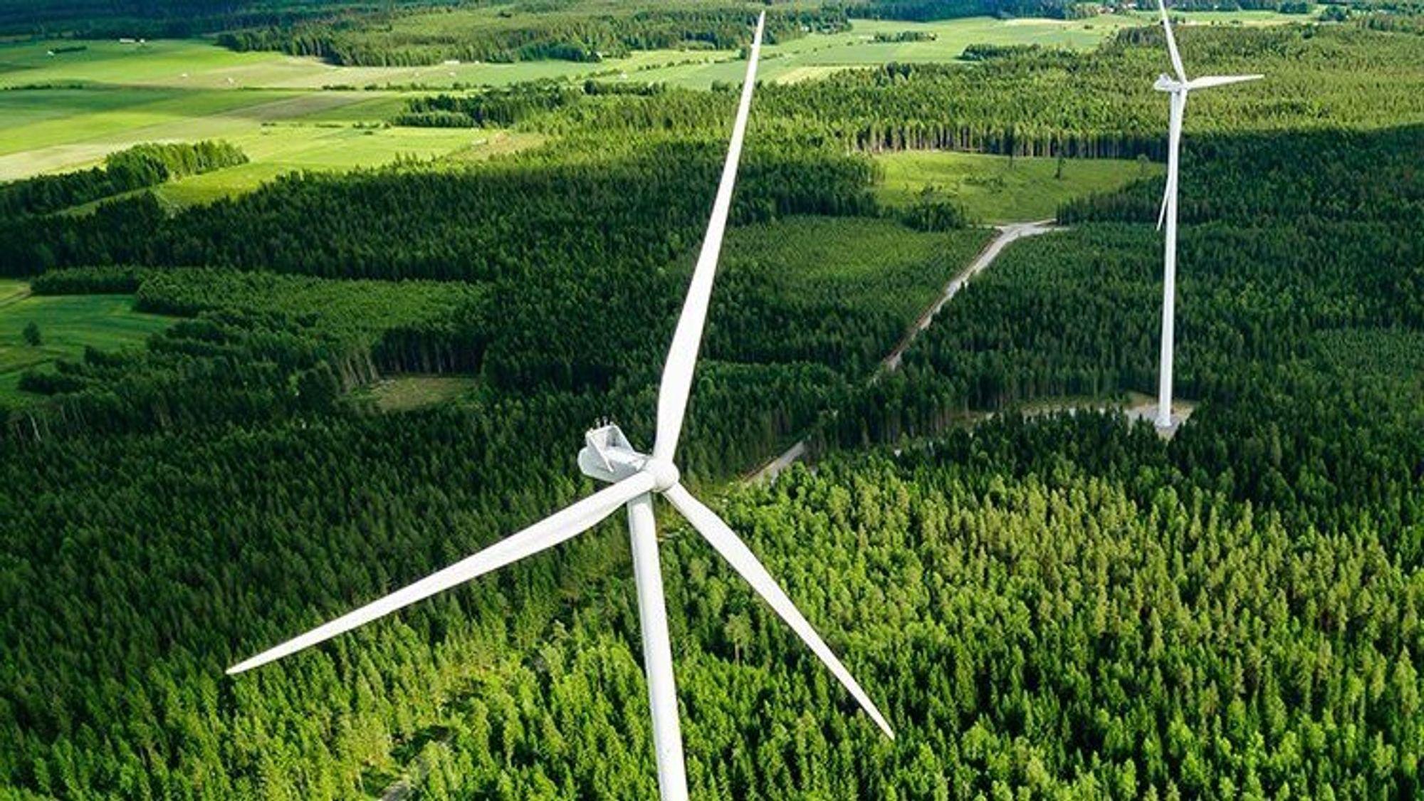 De tyske vindparkene består av totalt187 vindturbiner fra forskjellige leverandører.