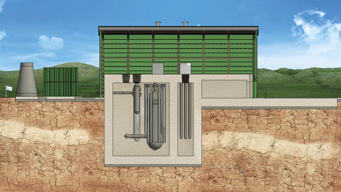 """Urenco og flere partnere vil levere U-batterier eller såkalte uranium-til-hydrogen """"øyer"""" uten strømforsyning fra elnett. Disse installasjonene har en strømkapasitet på rundt 4 MW og trenger bare 1-2 leveranser av uranium per tiår. U-batteriet forsyner kraft og varme, og er egnet til hydrogenproduksjon. Det første U-batteriet kan stå klart i 2028."""