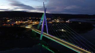 Spektakulær belysning av veiprosjekter: Flere er nominert til Norsk Lyspris