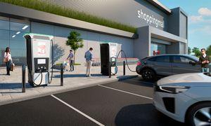 Verdens raskeste elbil-lader kan også lade fire biler samtidig