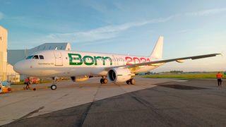 Et av det nye italienske flyselskapet ITAs nye fly.