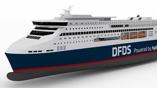 Den danske skipsdesigneren Knud E. Hansen står bak utforming av den nye DFDS-fergen Europe Seaways, som skal seile uten utslipp mellom Danmark og Norge fra 2027.