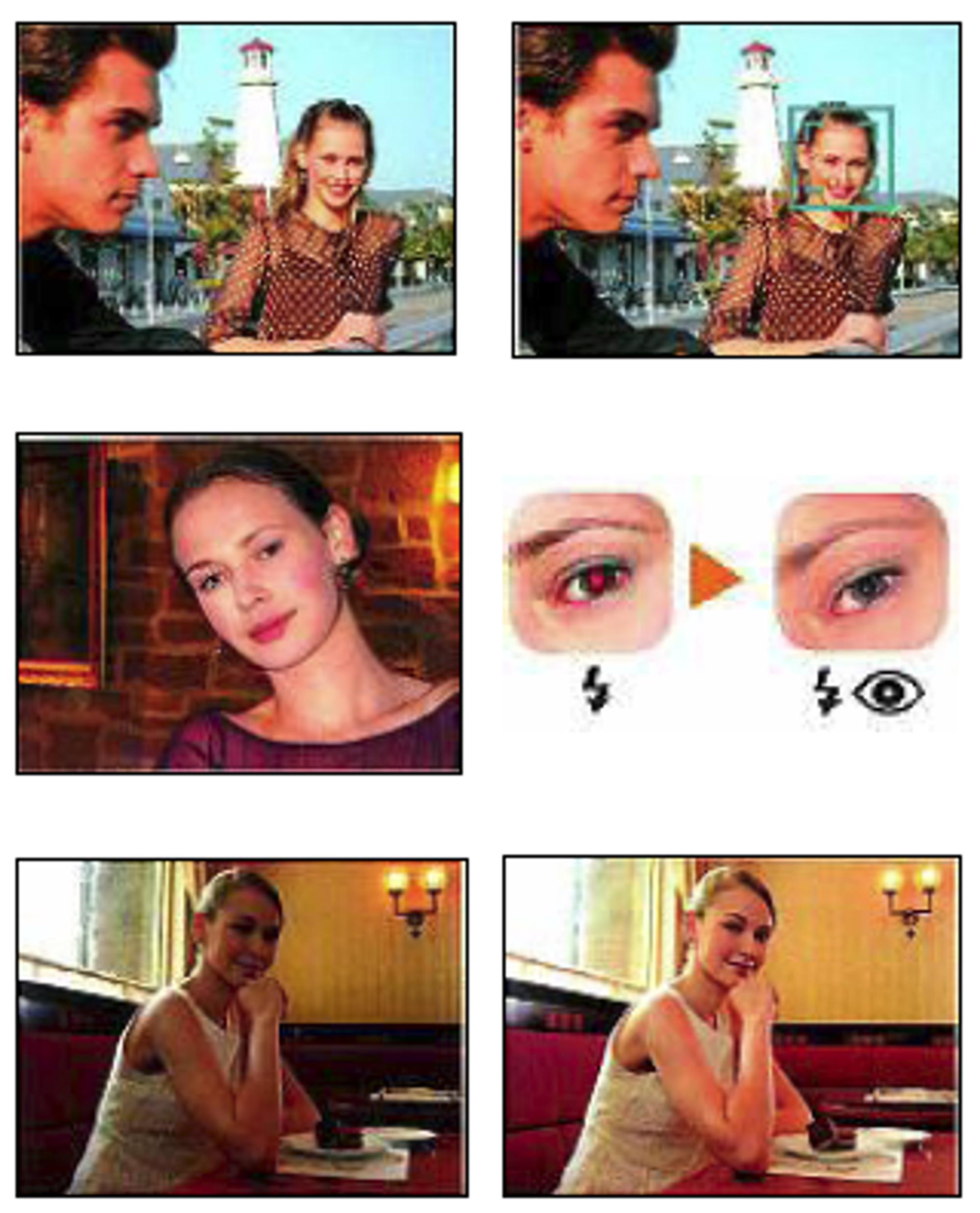 Ansiktsprioriterende AF, automatisk fjerning av røde øyne, og D-Lighting.