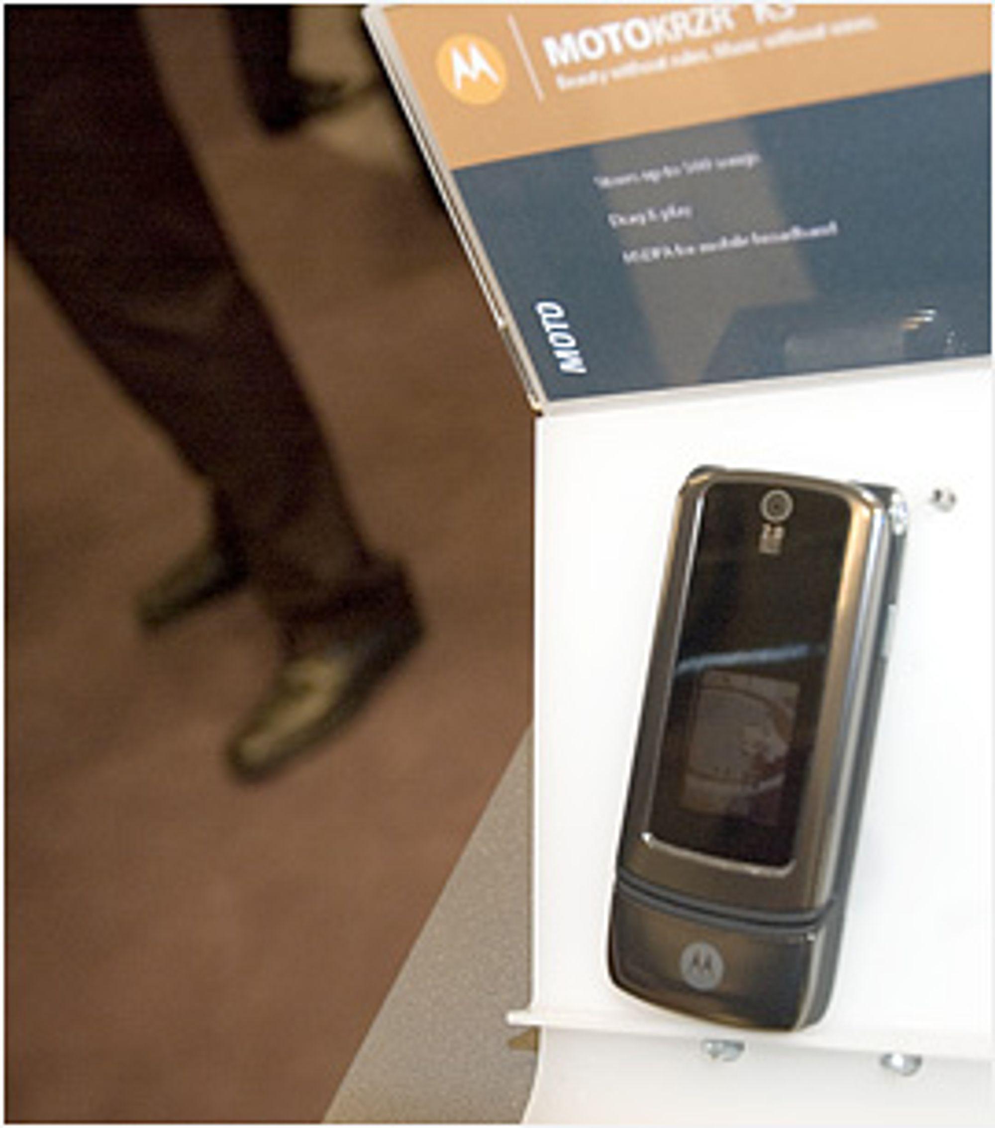 Motorola Krzr K3 ser unektelig pen ut
