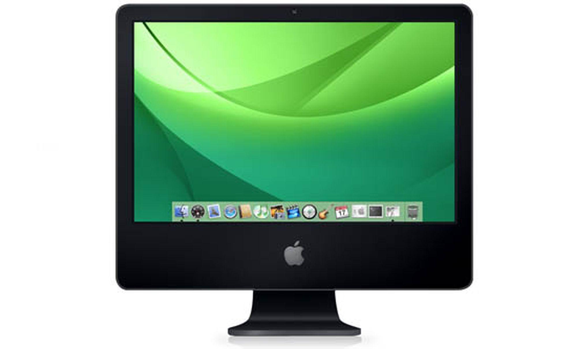 Manipulering av eksisterende hvit iMac.