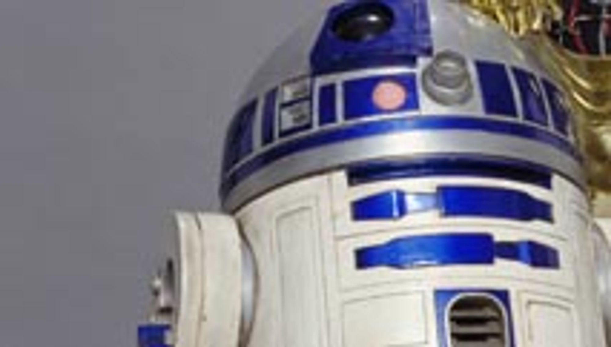 R2-D2 tar imot posten