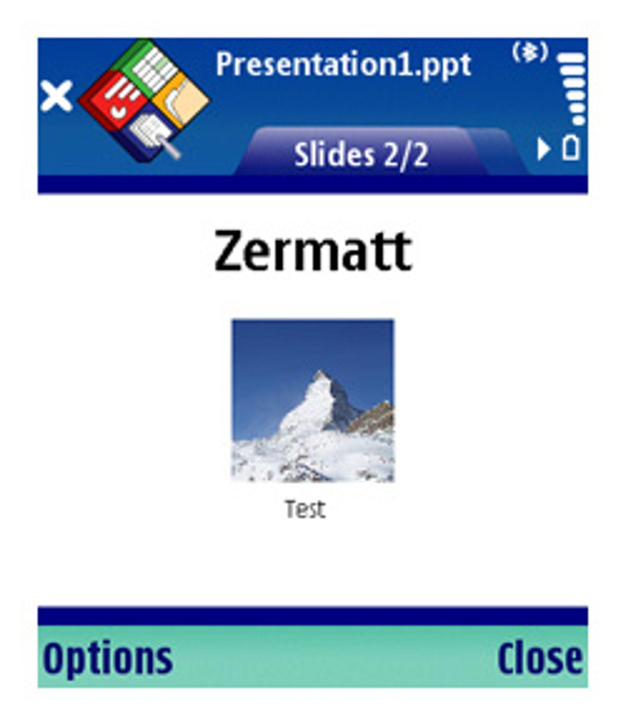 QuickPoint kan både vise og redigere bilder.