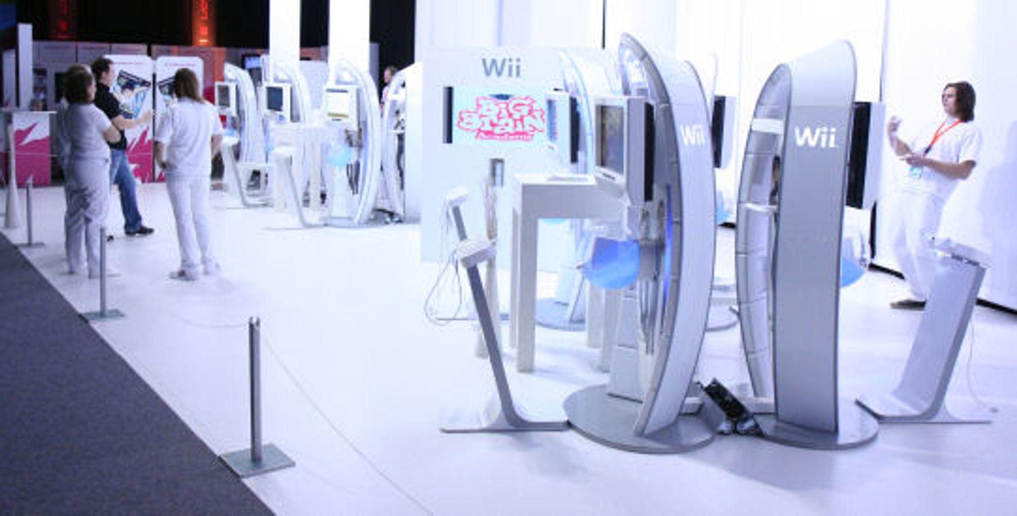<em>Wii-maskiner på rekke og rad</em>