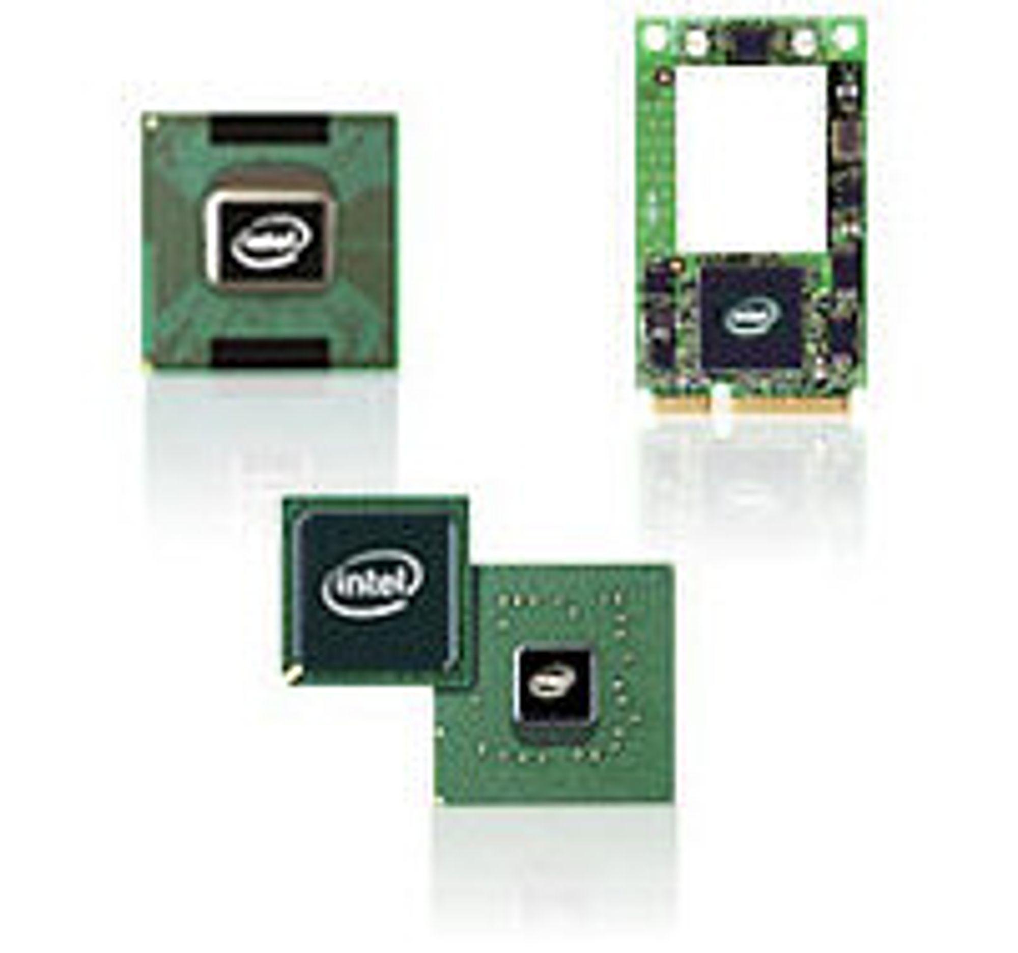 Komponentene i dagens Centrino (CPU, WLAN og brikkesett)
