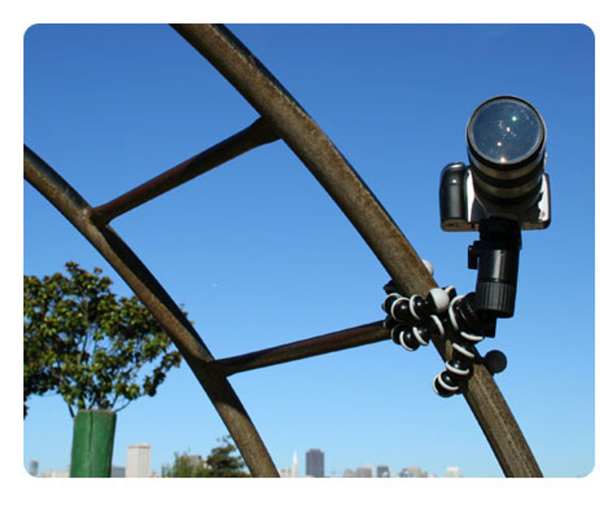 Med en Gorillapod, kan du feste kameraet hvor som helst.