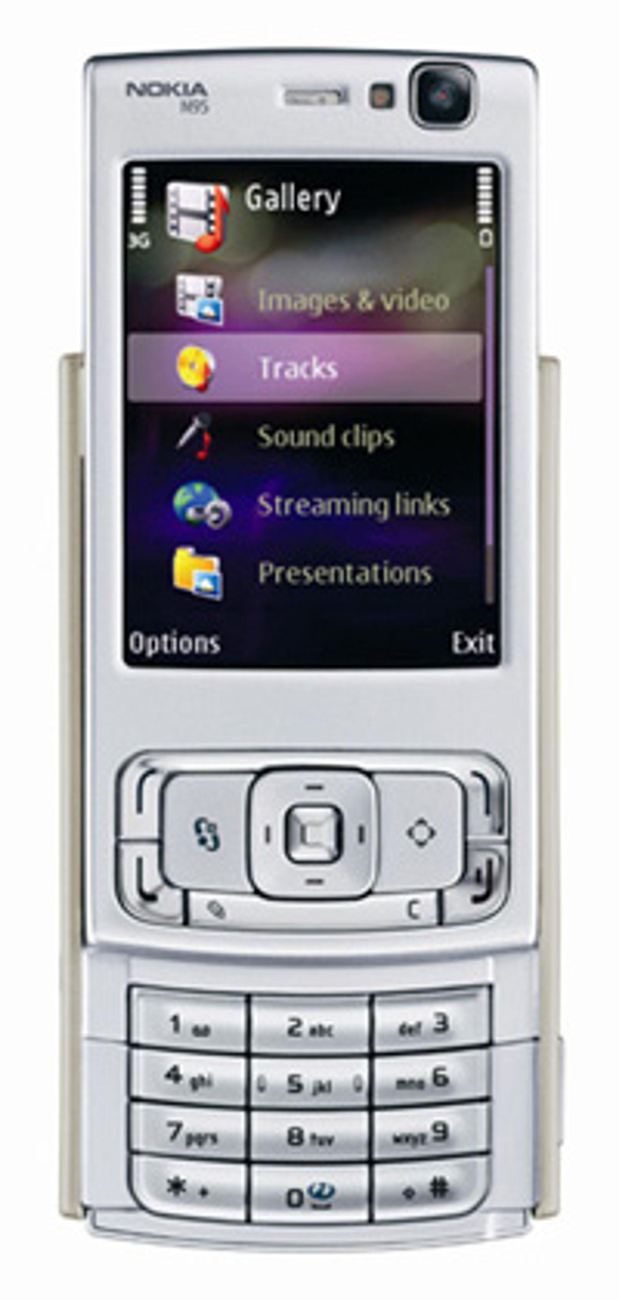 Nokias nye flaggskip, N95, kjører Series 60 (Foto: Nokia)