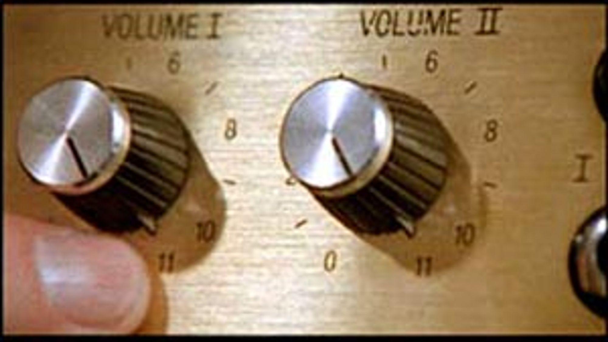 Spinal Taps forsterkere går helt til 11 slik at de kan spille ekstra høyt.