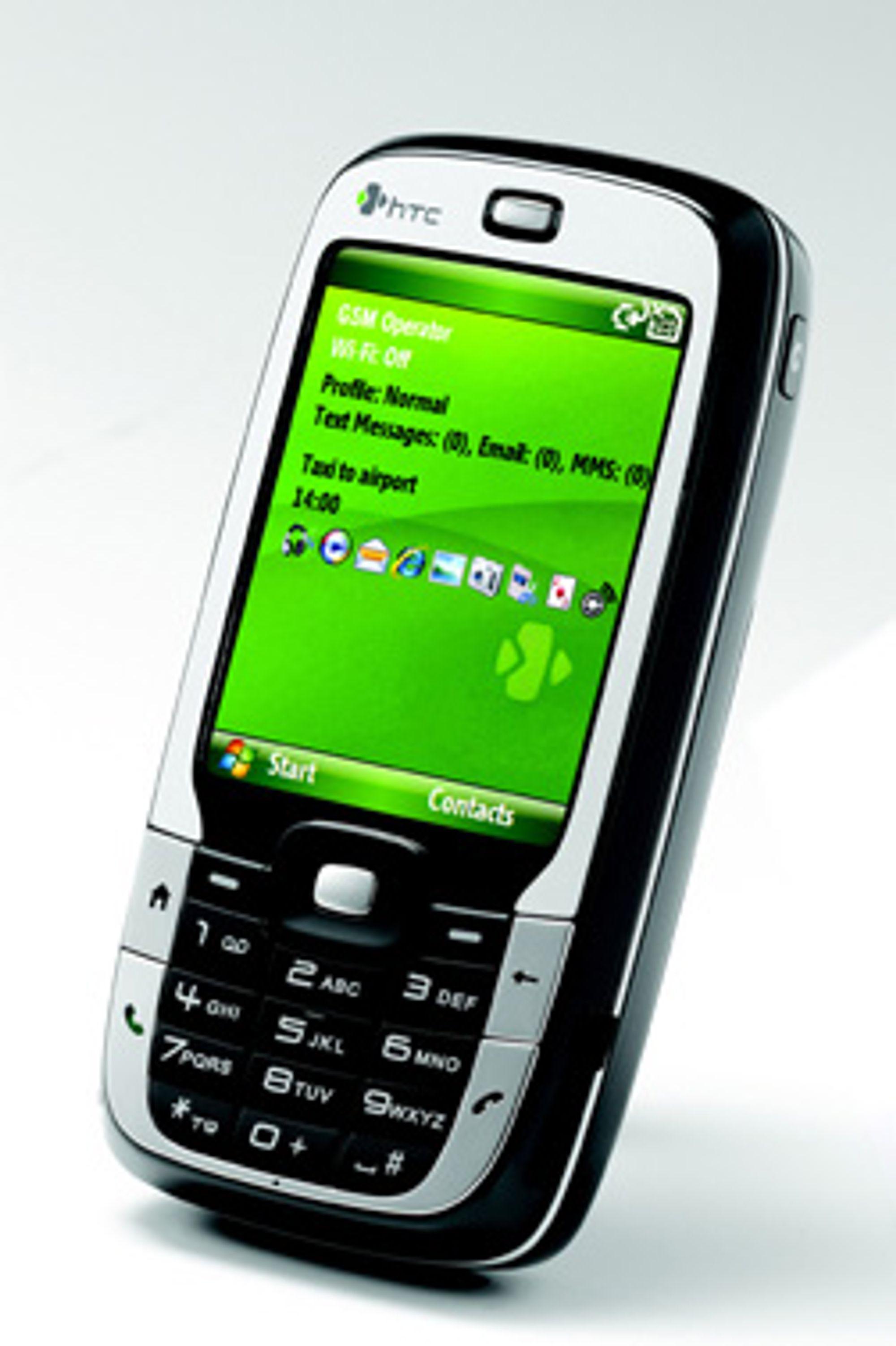 S710 ser ut og brukes som en helt vanlig telefon når den er sammenslått. (Foto: HTC)