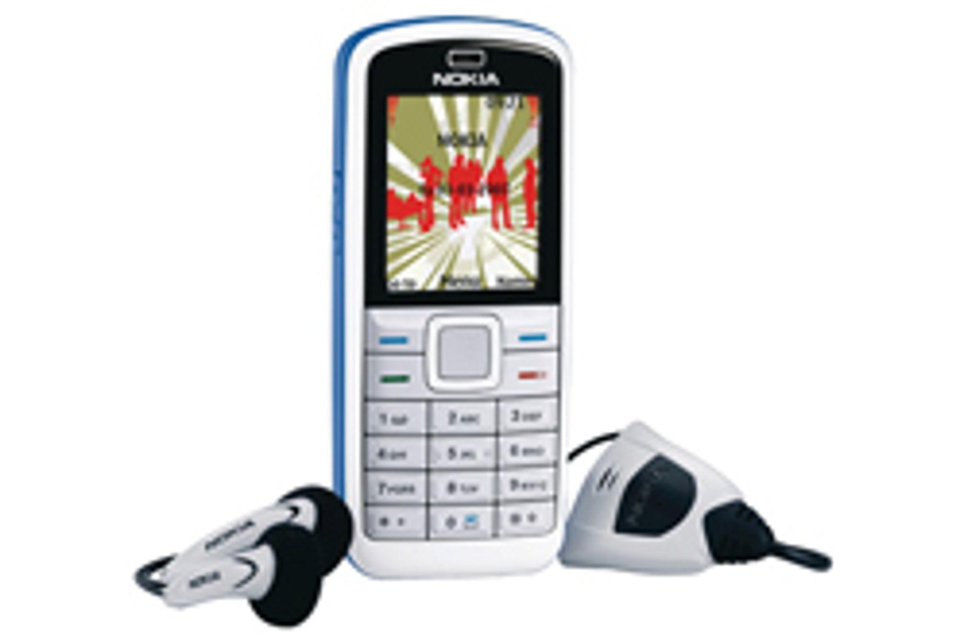 Nokia 5070 har radio og en lav pris.