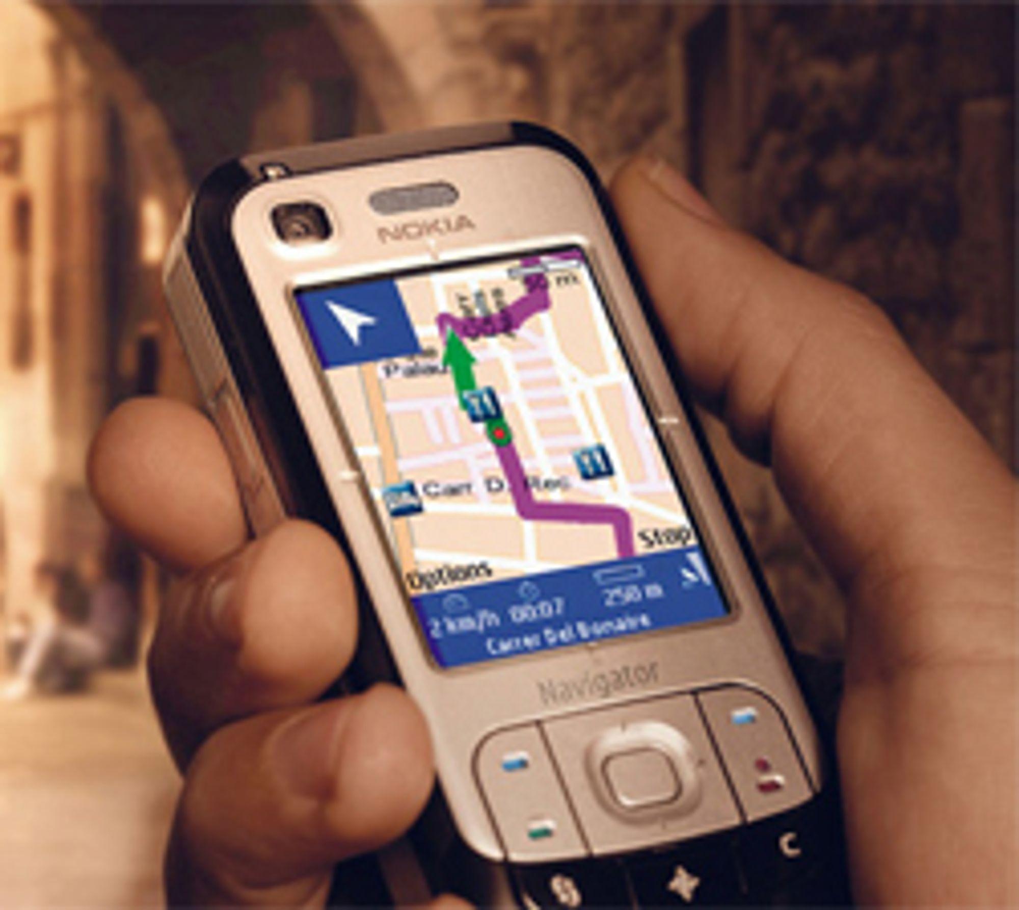 6110 Navigator er GPS og mobil i ett.