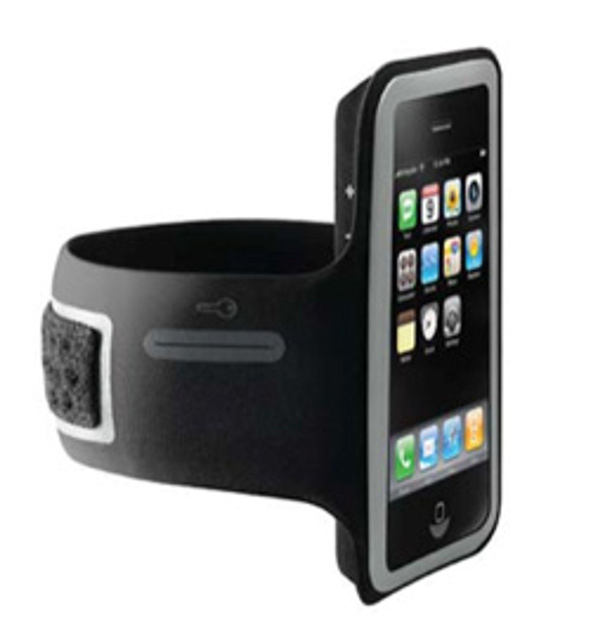 Her er iPhone-armbåndet du kan bruke i treningsøktene. (Foto: iLounge)