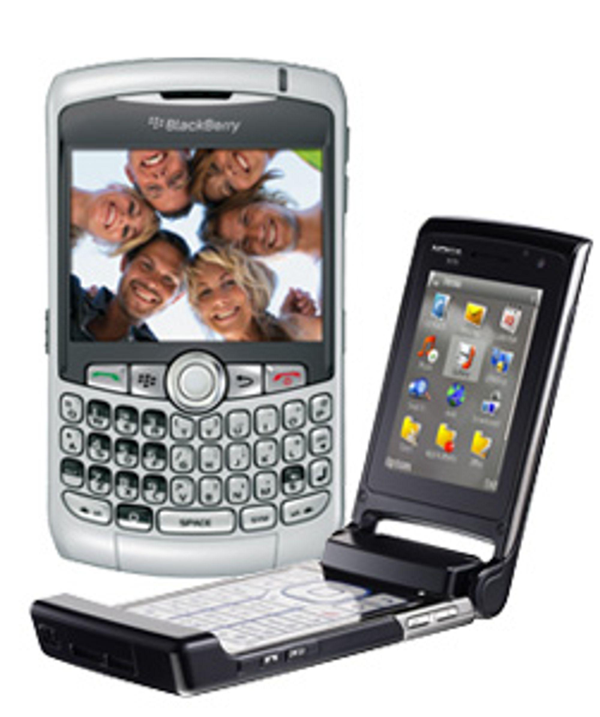 Skal Nokia sluke Blackberry? (Foto: RIM / Nokia)