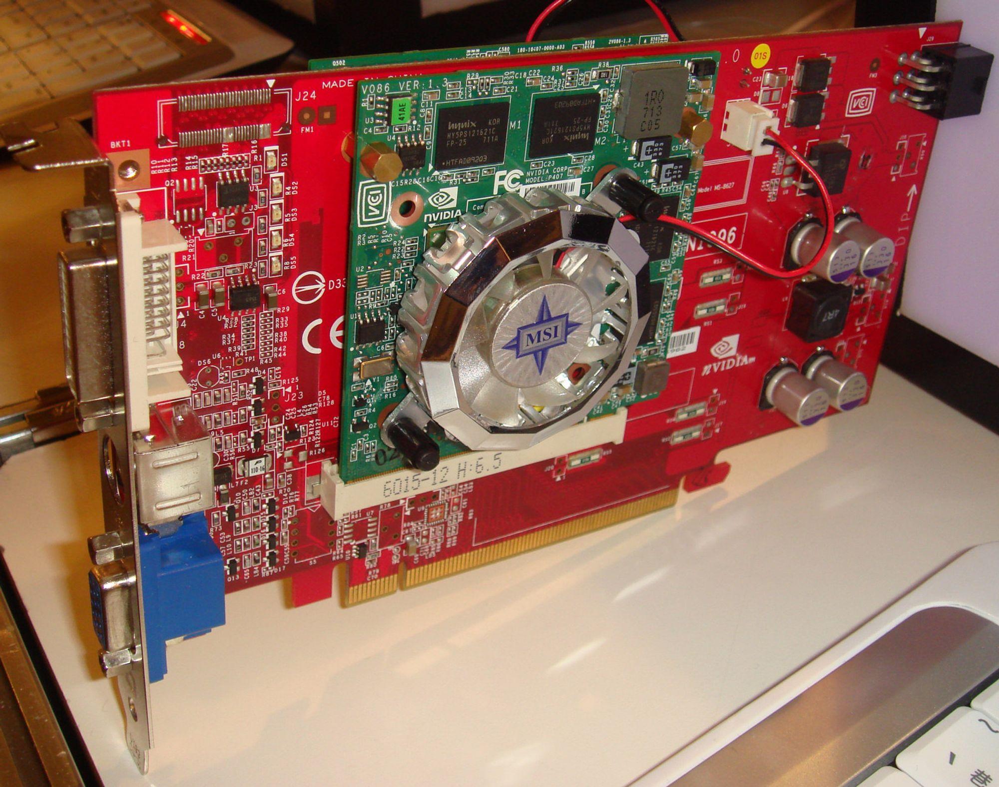 PCIe-grafikk med dobbel MXM - Tek no