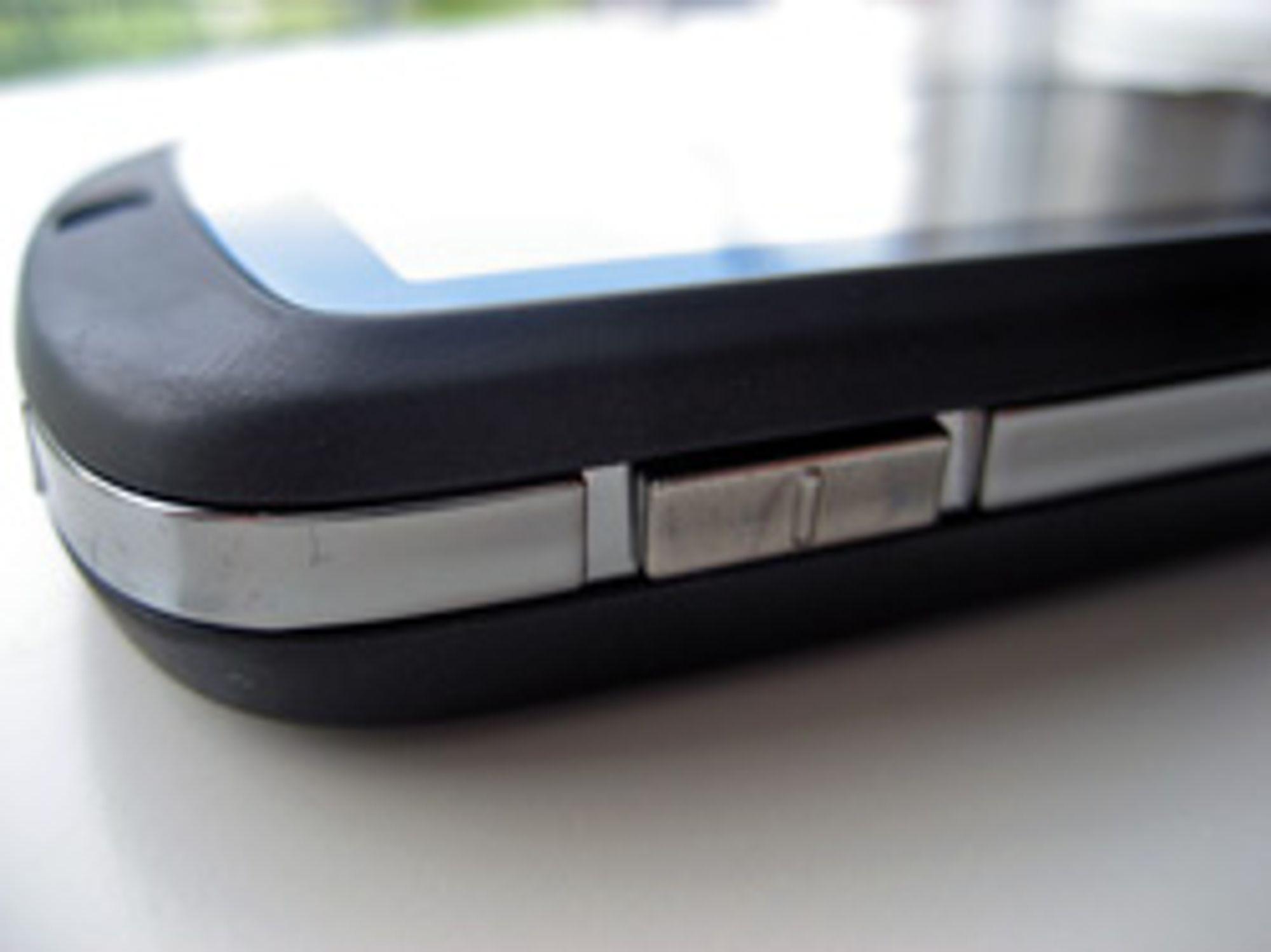 Volumknappen til HTC Touch.