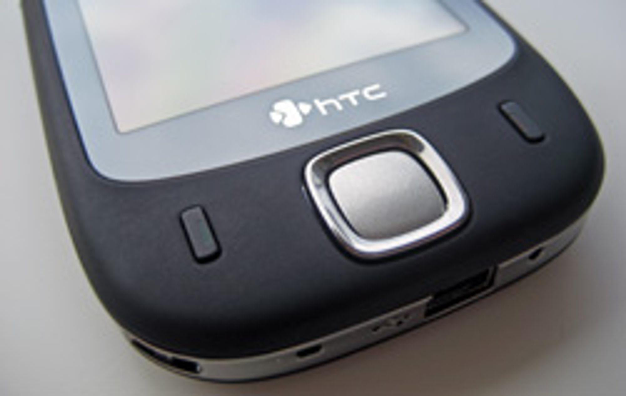 HTC Touch har få taster.