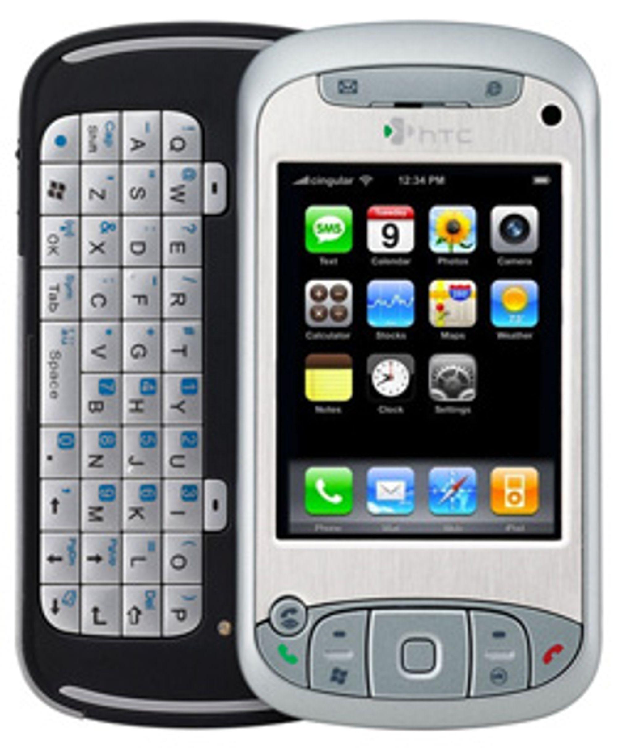 Hva med iPhone-tema på HTCs TyTn? (Illustrasjon: Silje Gomnæs)